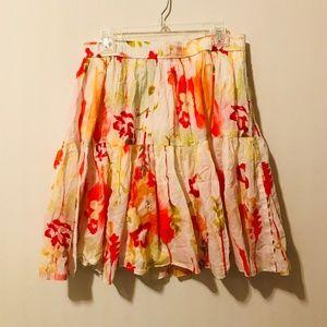 Old Navy Floral Skirt Elastic Mini